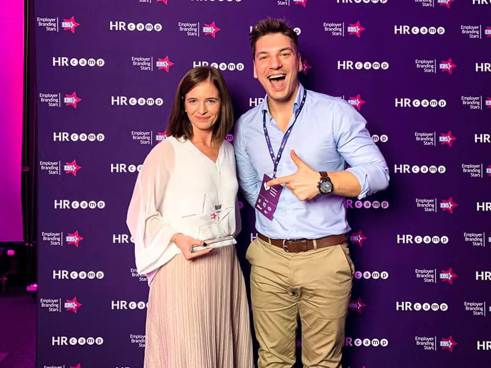 Wojtek Kardyś z nagrodą Employer Branding Stars